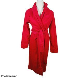 Victorias Secret Plush Red Velour Terry Robe XS/S